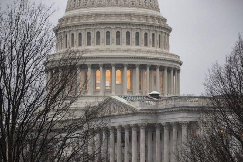 美國國會大廈的局部。(美國之音)