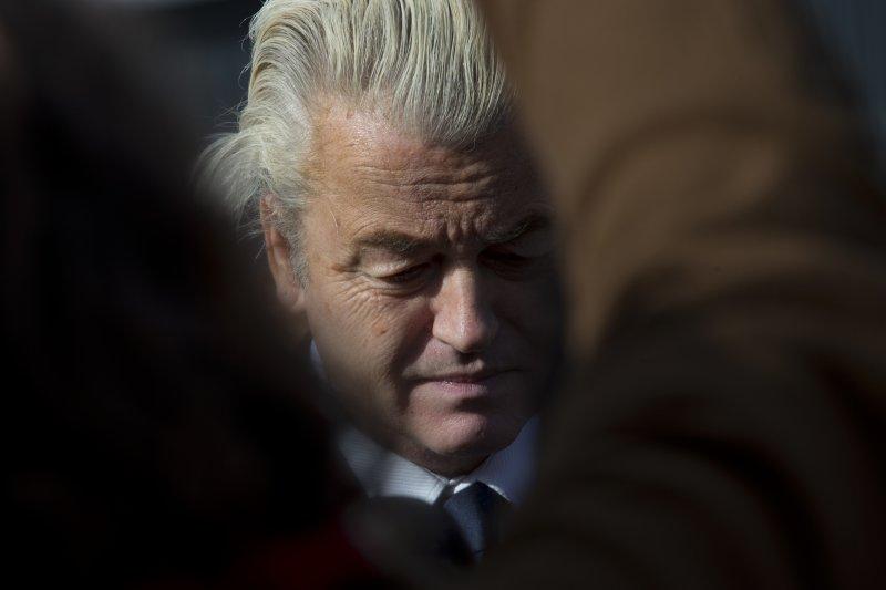 荷蘭國會眾議院選舉15日投票,自由黨領導人威爾德斯(Geert Wilders)(AP)