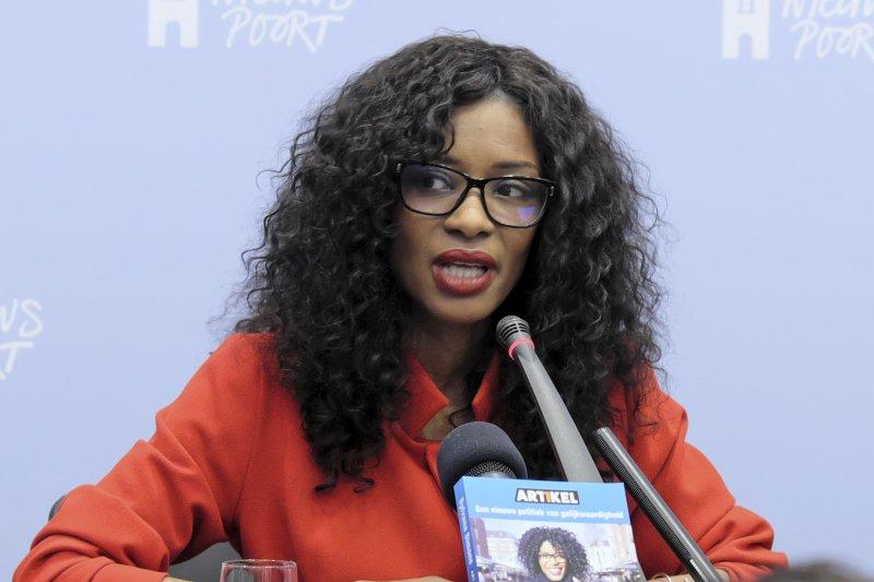 荷蘭國會眾議院選舉,憲法第一條黨(Artikel 1)主席希蒙絲(Sylvana Simons)(AP)