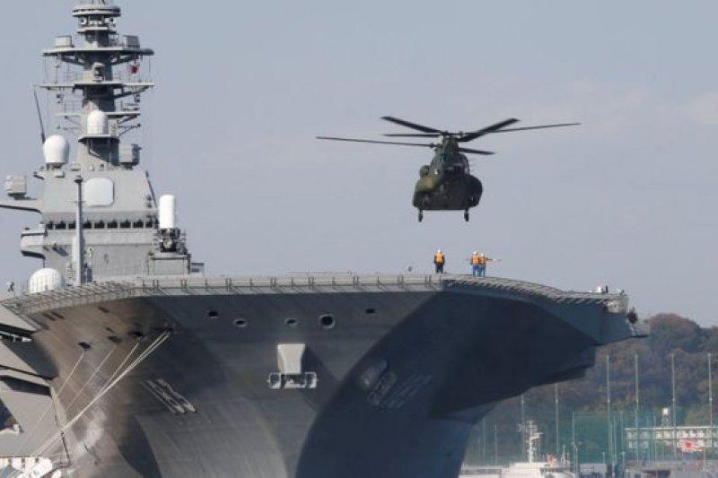日本海上自衛隊最大的「出雲級直升機護衛艦」將通過南中國海。(BBC中文網)