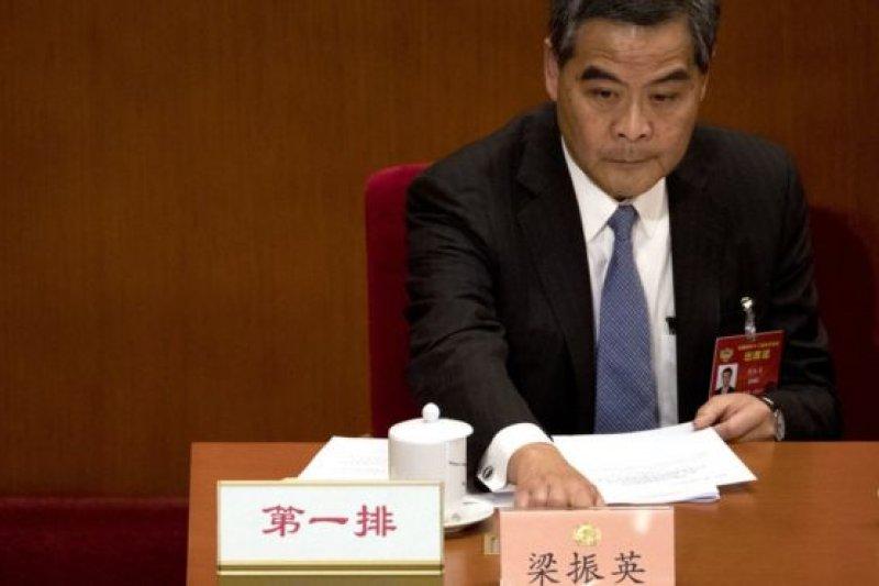 梁振英在當選後即刻上任,就坐政協副主席席位。(BBC中文網)