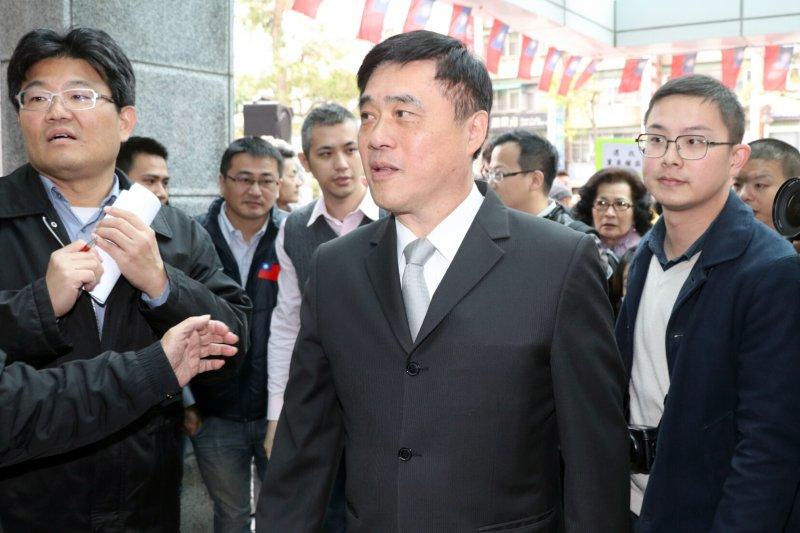 國民黨副主席郝龍斌表示,認為不該一編選一邊改規則,此舉有違信賴保護原則。(蘇仲泓攝)