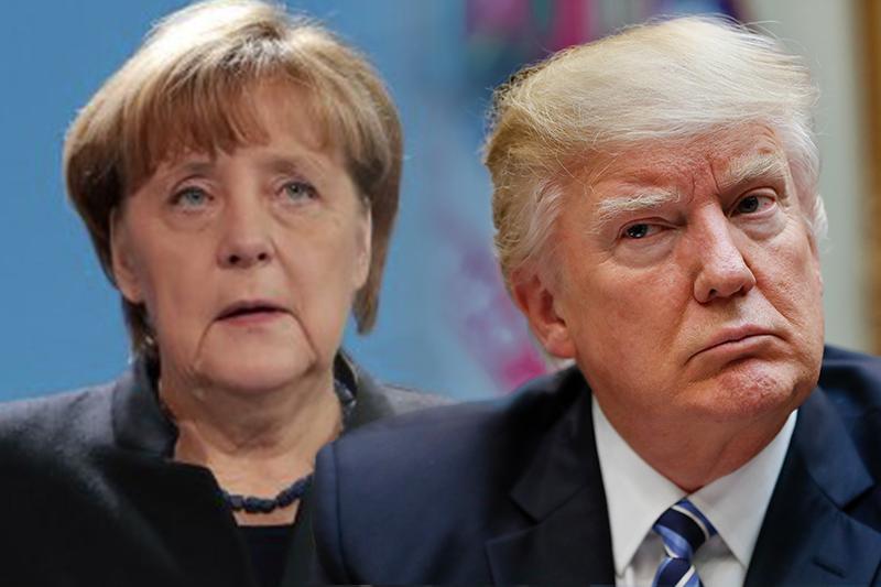 德國總理梅克爾與美國總統川普即將首度會面(照片:美聯社/合成:風傳媒)