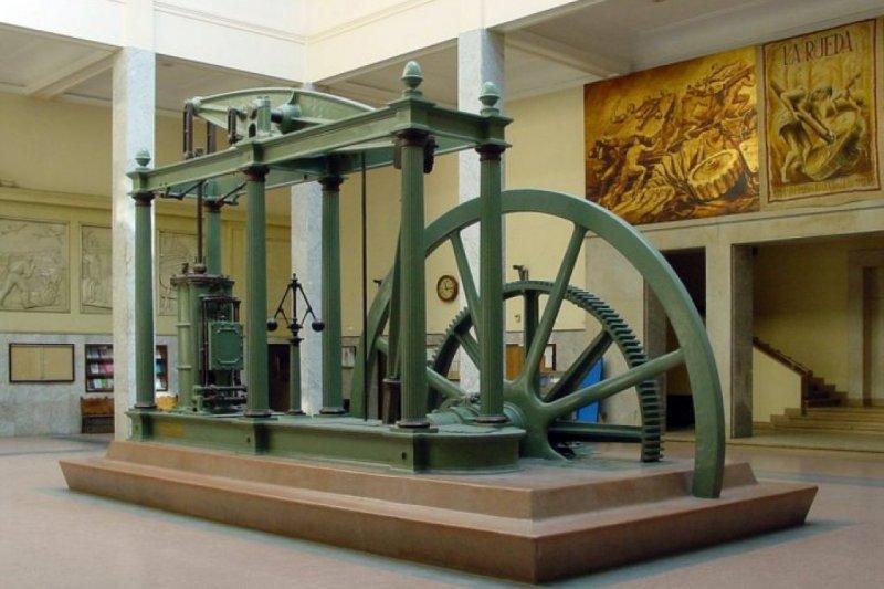 瓦特在1776年改良蒸汽機,此後就開啟工業革命的紀元。(取自維基百科)