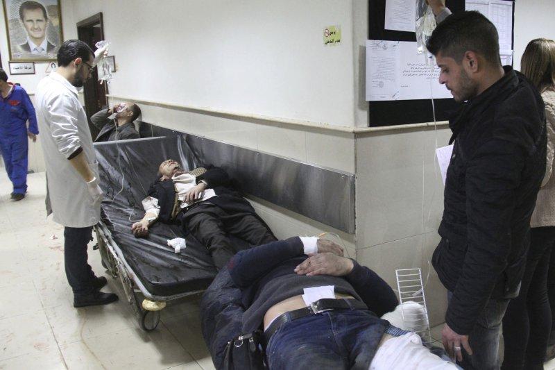 敘利亞內戰6週年當天,敘國首都大馬士革發生兩起爆炸案,造成31人死亡,130人受傷。(美聯社)