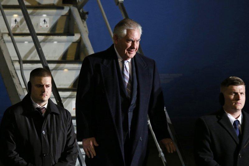 美國國務卿提勒森2017年3月中旬出訪南韓、日本、中國(AP)