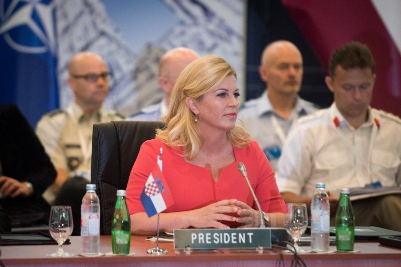 克羅埃西亞總統格拉巴爾─基塔羅維奇(Kolinda Grabar-Kitarović)(D. Myles Cullen@Wikipedia / CC BY 2.0)