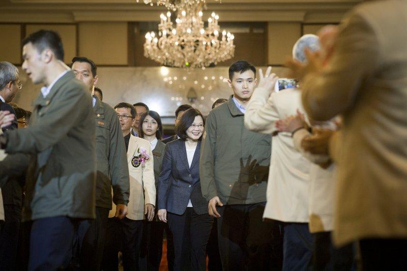 2017年3月18日,蔡英文總統出席磐石會第19、20屆會長交接典禮(總統府)