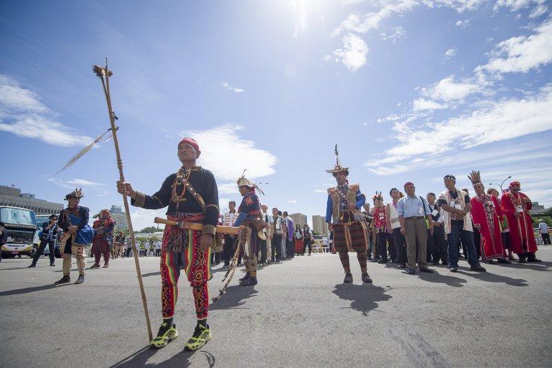 2016年8月1日,蔡英文總統代表政府向原住民族道歉(總統府)