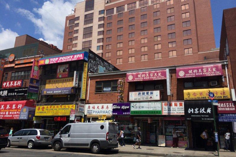 法拉盛近年來逐漸成為台灣、中國、韓國等地的移民聚居的地方。(圖/Shinya Suzuki@flickr)