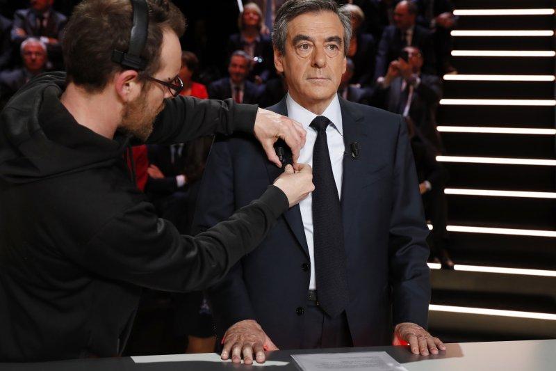 2017法國總統大選:首場電視辯論,右派政黨「共和黨」候選人費雍(AP)