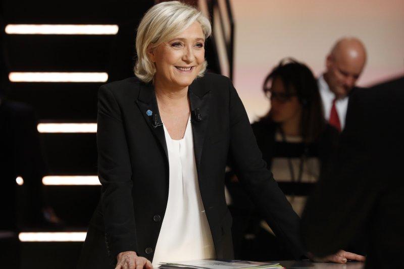 2017法國總統大選:首場電視辯論,極右政黨「民族陣線」黨主席勒潘(AP)