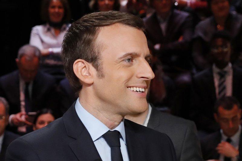 2017法國總統大選:首場電視辯論,無黨籍候選人馬克宏(AP)