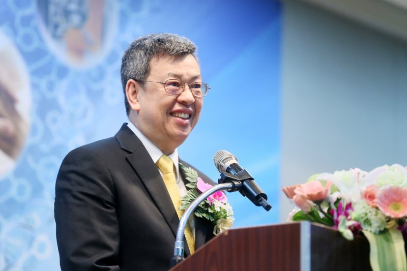 副總統陳建仁今(22)日出席「生技醫藥國家型科技計畫總期程成果發表會」。(總統府提供)