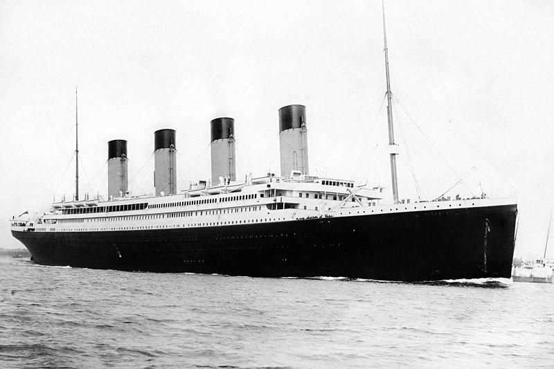 1912年建造的鐵達尼號號稱「上帝也沉沒不了的巨型郵輪」。(wikipedia/public domain)