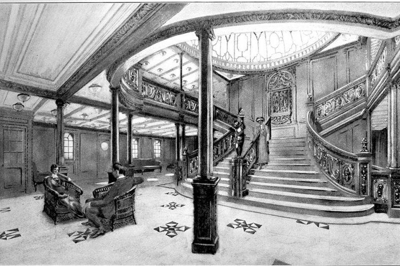 鐵達尼號的內部。(wikipedia/public domain)