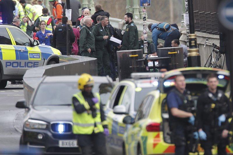 英國國會攻擊,恐攻,西敏橋。(美聯社)