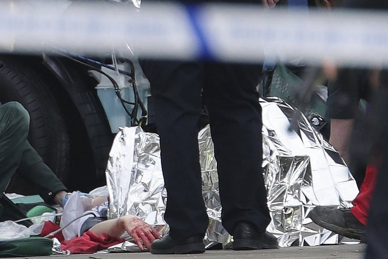 英國國會21日發生嚴重攻擊事件。(美聯社)