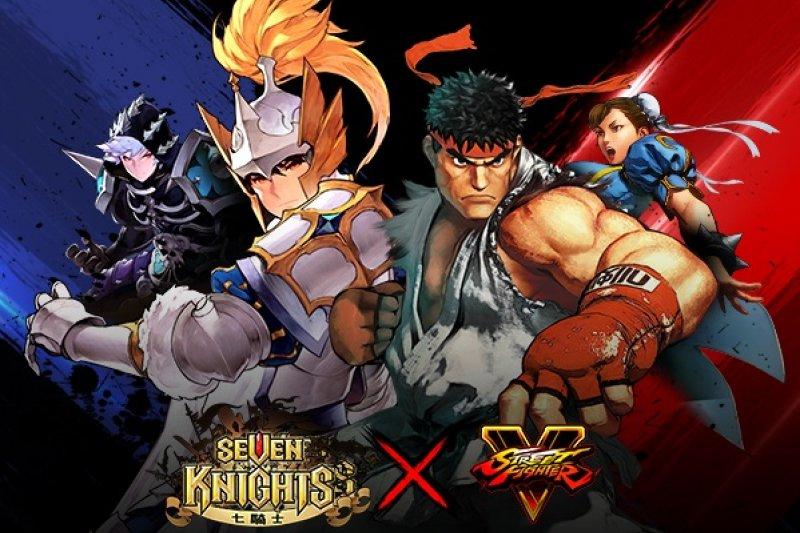 來自《STREET FIGHTER V》的5位經典角色全面降臨《七騎士》。(圖/網石遊戲提供)