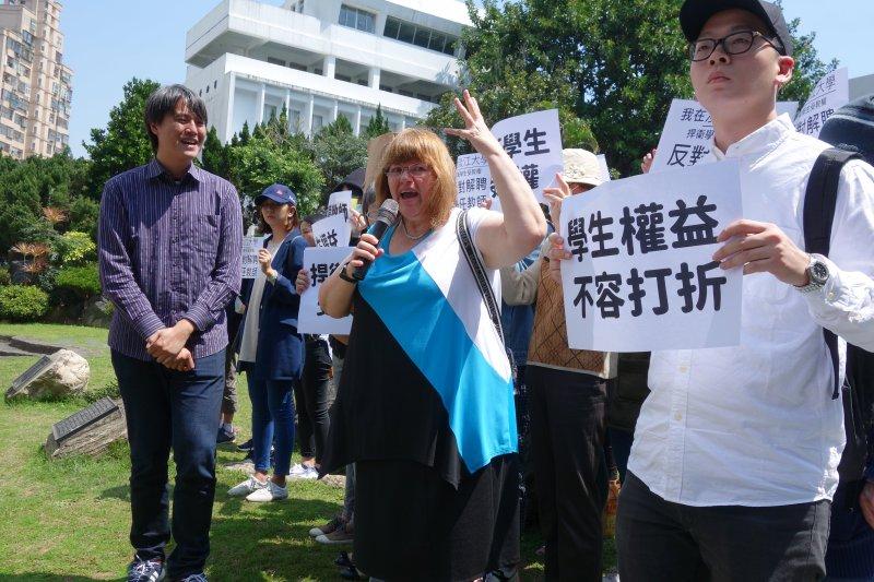 高教工會聲明,嚴正拒絕政府各種架空兼任教師適用勞動基準法保障的措施,並強調「沒有續聘保障,就沒有師生權益」。(台灣高等教育產業工會提供)
