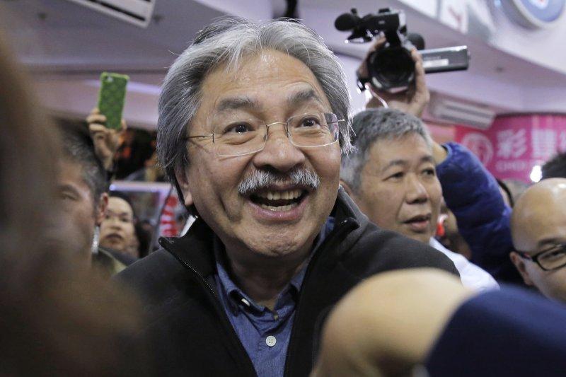 2017香港特首選舉,候選人曾俊華(AP)
