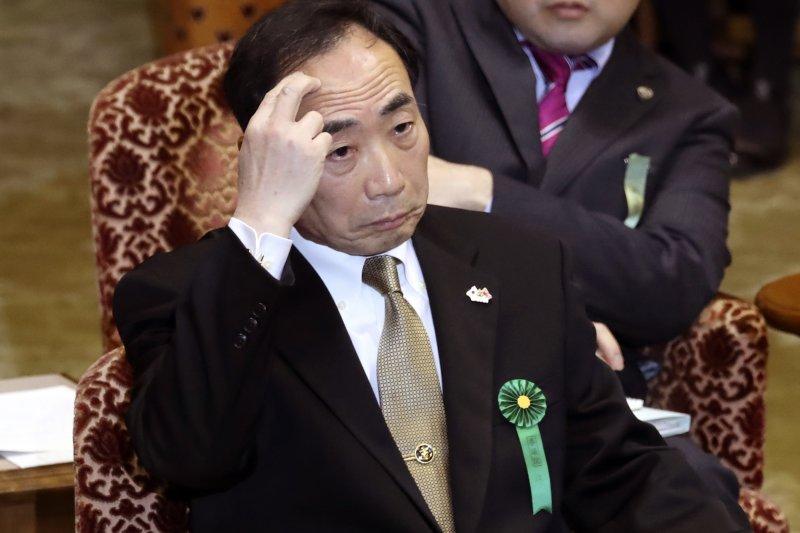 日本「地價門」「捐款門」醜聞核心人物、森友學園理事長籠池泰典(AP)