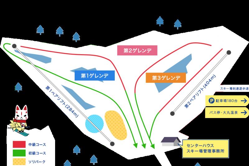 那須滑雪場的園區地圖,日本高中師生是在第二滑雪場遭遇雪崩。