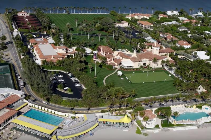 美國總統川普的海湖莊園俱樂部。(截圖自YouTube)