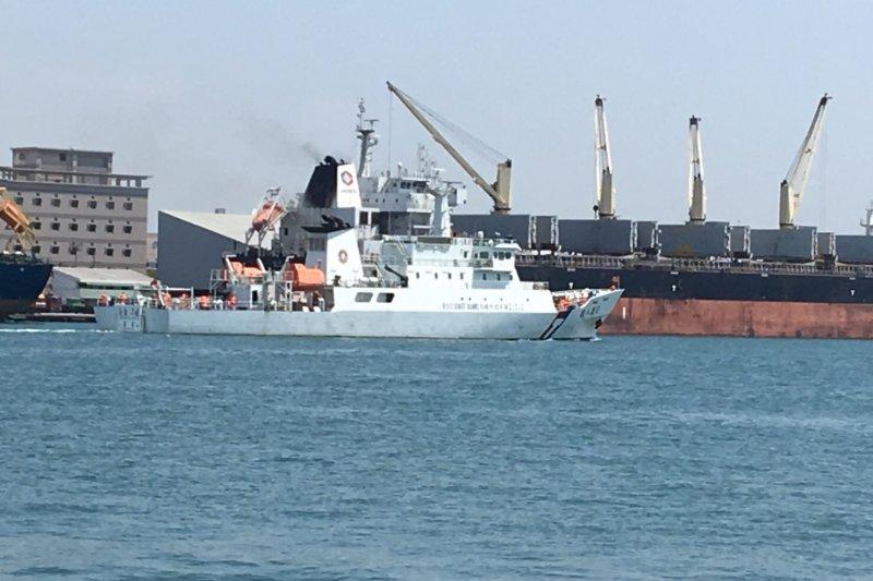 行政院海岸巡防署海洋巡防總局所屬之直屬船隊巡護八號船。(海巡署提供)