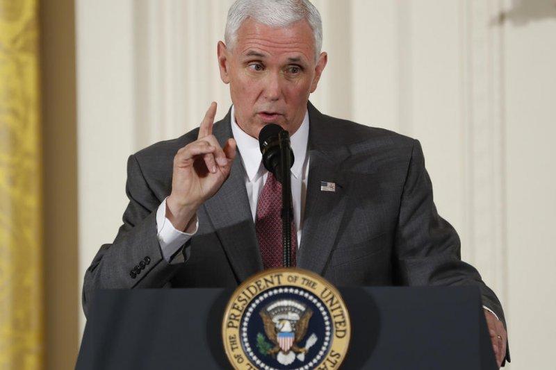 美國副總統彭斯29日在女性賦權論壇發表演說(美聯社)
