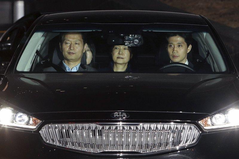 朴槿惠被移送首爾看守所。(美聯社)