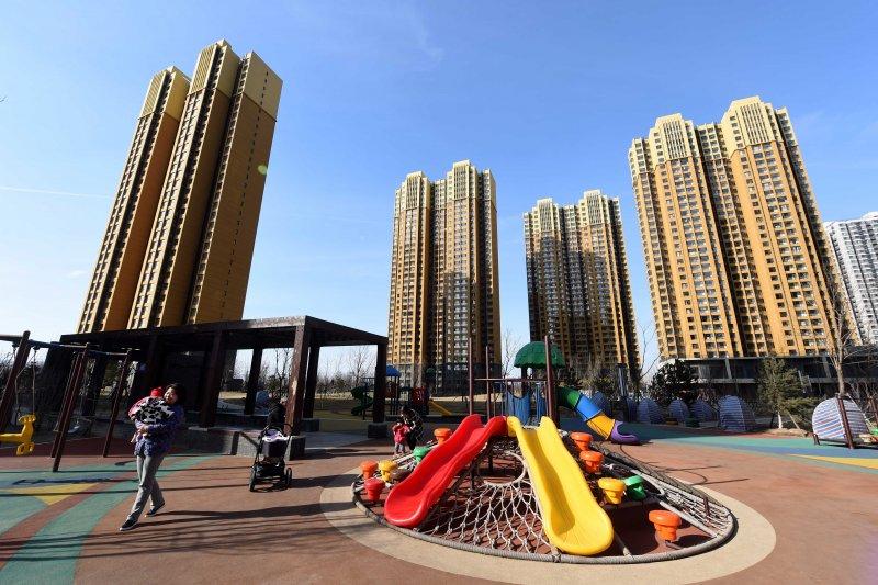北京一處在建商品房。(新華社)