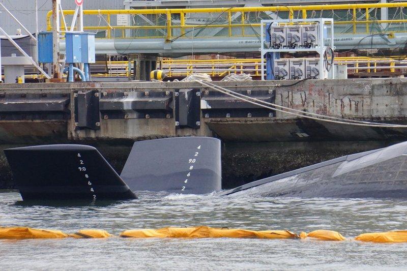 日本自衛隊蒼龍級潛艦的X尾翼(又稱X舵)。(Hunini@Wikipedia/CC BY-SA 3.0)