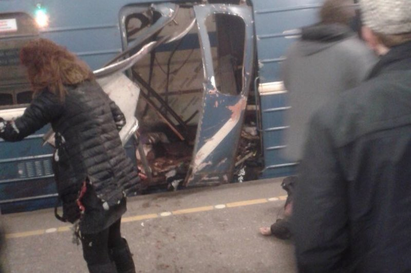 俄羅斯大城聖彼得堡(Saint Petersburg)3日發生地鐵爆炸案,死傷慘重(Twitter)