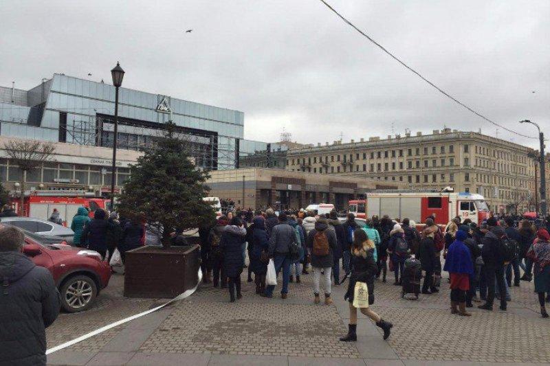 俄羅斯大城聖彼得堡(Saint Petersburg)3日發生地鐵爆炸案,死傷慘重。(Twitter)