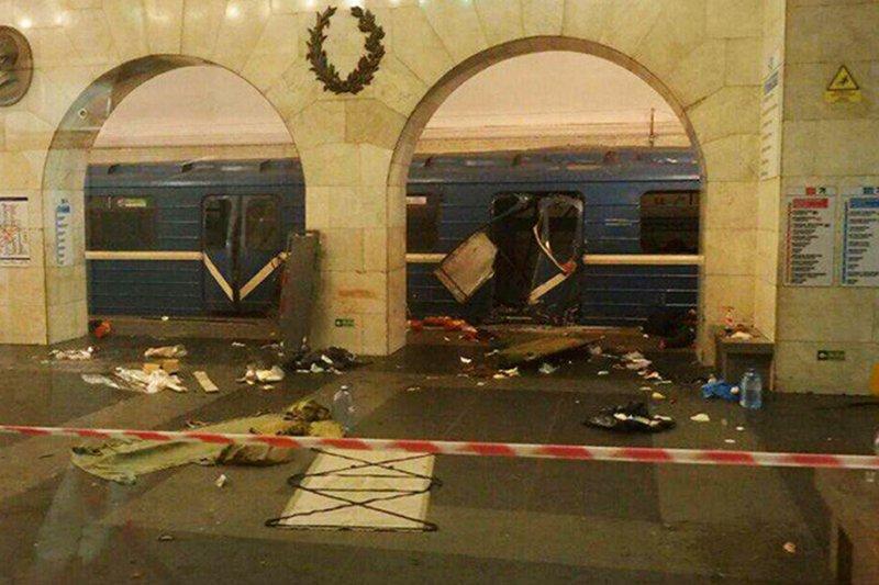 俄羅斯大城聖彼得堡(Saint Petersburg)3日發生地鐵爆炸案,死傷慘重(AP)