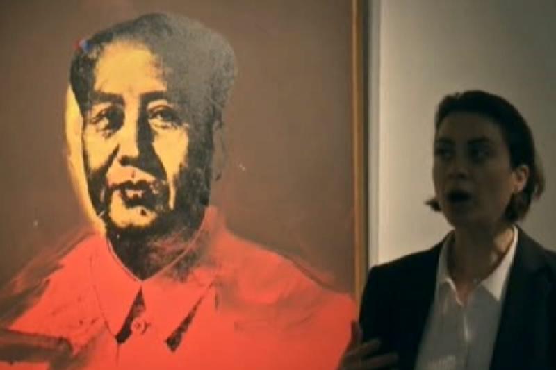 沃荷《毛澤東畫像》作品下月在香港拍賣。(美國之音)
