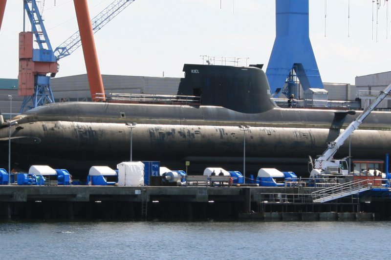 希臘向德國購買的的214級潛艦Papanikolis號。(Eigenes Werk@Wikipedia/CC BY-SA 3.0)
