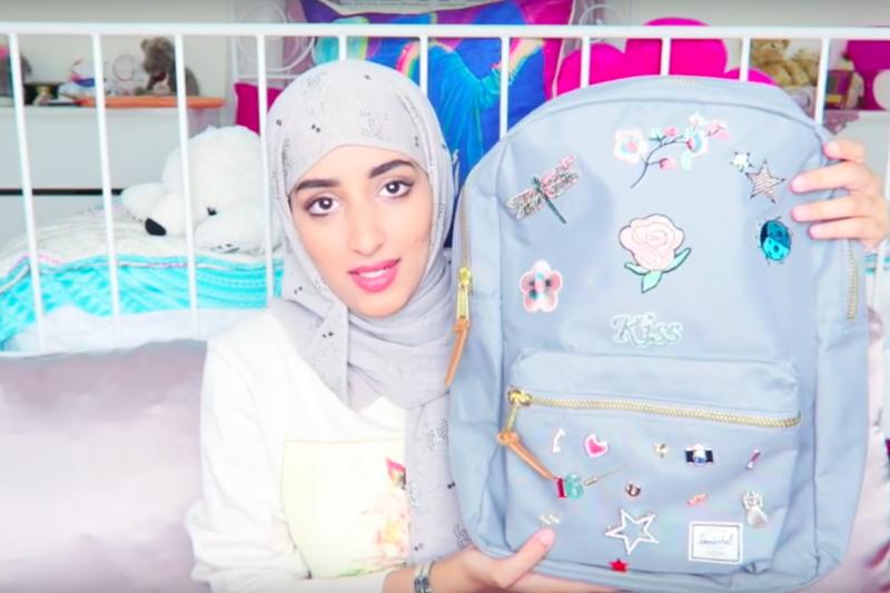 沙烏地阿拉伯最受歡迎YouTuber的夏馬里( Njoud Al Shammari)。(截圖自YouTube)