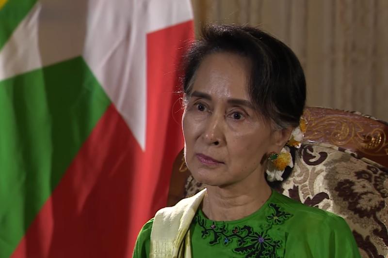 緬甸國務資政翁山蘇姬從人權偶像變成沒人愛理的政客?。(圖/取自Youtube)