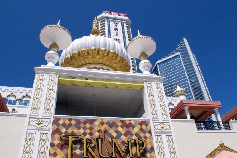 賭場,賭博,博弈。美國總統川普位於大西洋城(Atlantic City)的「川普泰姬瑪哈陵賭場」(Trump Taj Mahal)(AP)