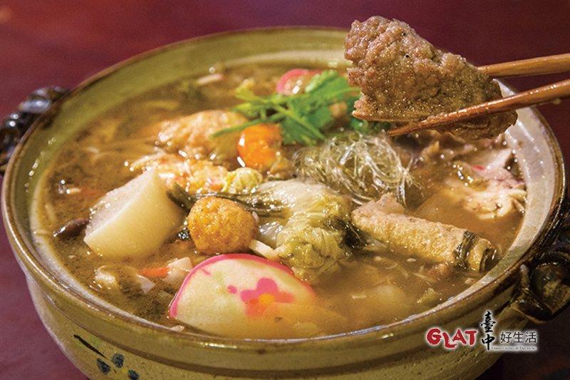 菜尾湯十味雜陳,帶著大鍋菜的況味,表現為一種混搭美學(圖/ 台中好生活提供)