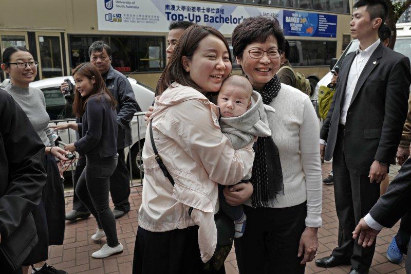 香港新任特首當選人林鄭月娥(AP)