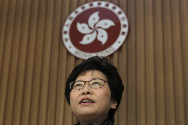 香港新任特首當選人林鄭月娥9日赴北京受命,並表示此行不談特定議題。(資料照,美聯社)