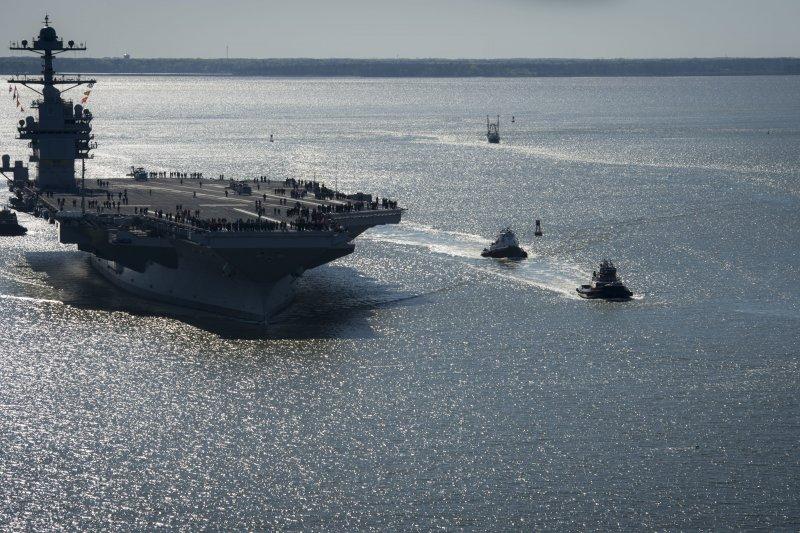 美軍最新航空母艦「福特號」(USS Gerald R. Ford)(AP)