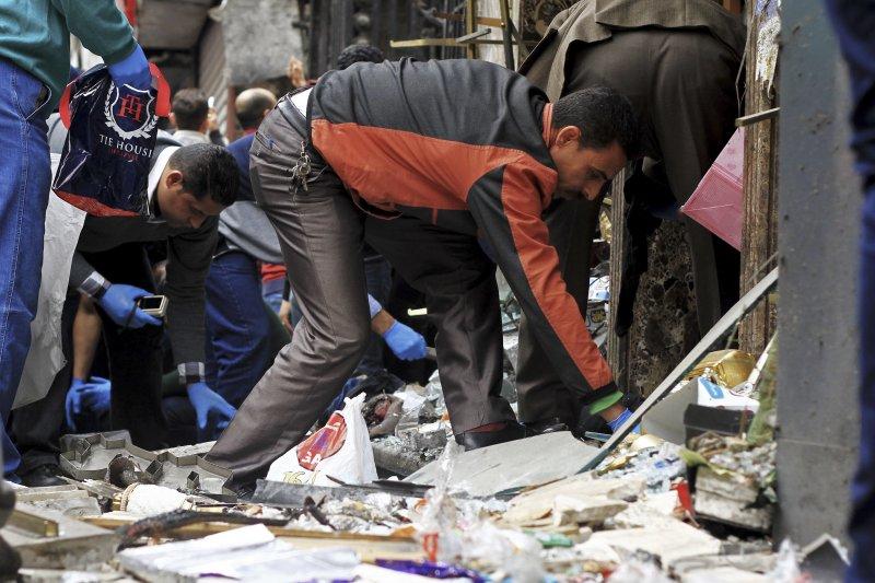 埃及2座科普特人(Copts)基督教堂9日慘遭「伊斯蘭國」攻擊,死傷慘重(AP)