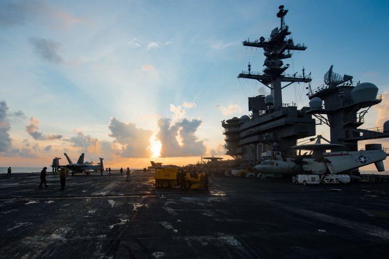 美軍核動力航母卡爾文森號。(美國海軍官網)