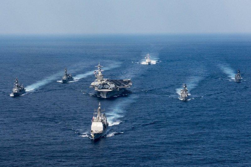 美軍第一航母打擊群。(美國海軍官網)