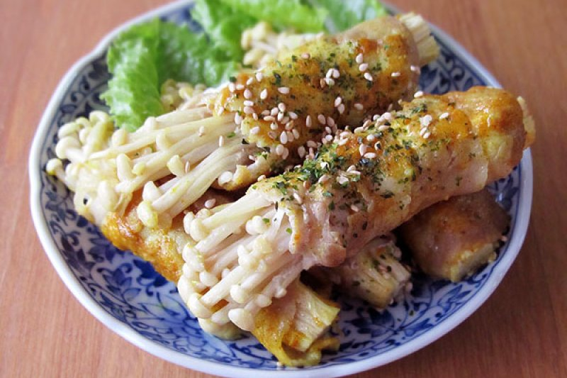好吃又方便做的家常菜金針菇豬肉捲。(圖/台灣好食部落格提供)
