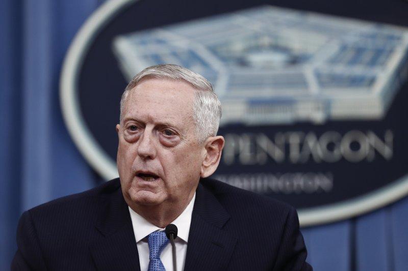 美國防長馬提斯說,除非敘利亞繼續使用化武,否則美國不會繼續介入內戰。(美聯社)